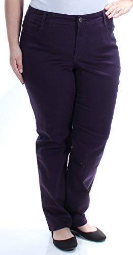 Style & Co. Womens Plus Slim Leg Colored Jeans Purple 16W