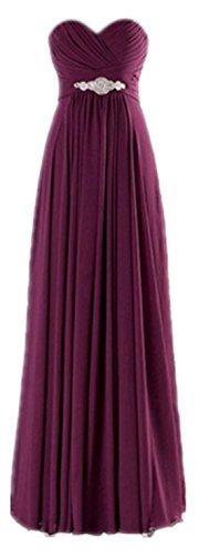 Strapless Bridesmaid Formal Women Long Grape CaliaDress Gowns Elegant Prom Dress C271LF qZtHnEw