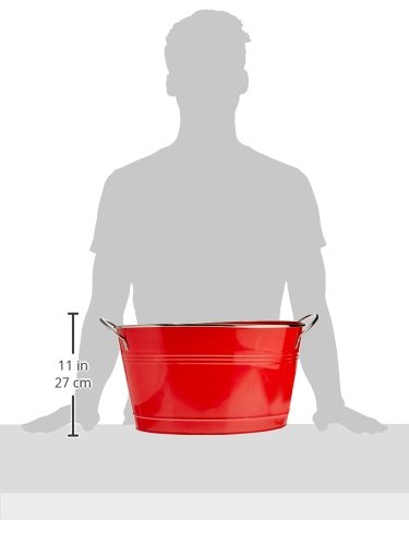 Twine Country Home Large Red Galvanized Metal Tub and Drink Bucket by by Twine (Image #5)