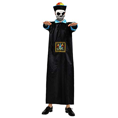 S.Charma Halloween Party Costume, Ghost Festival Adult COS Zombie Qing Dynasty Uniform Accessory -