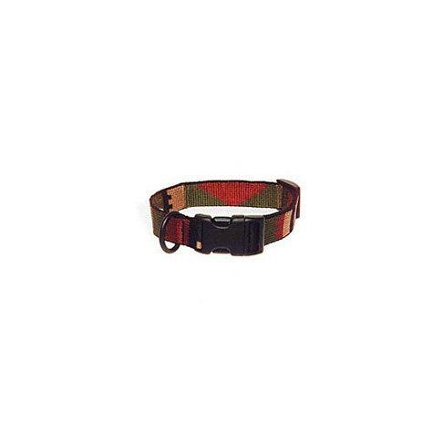 Bison Pet 1'' Rasta Adjustable Nylon Dog Collar