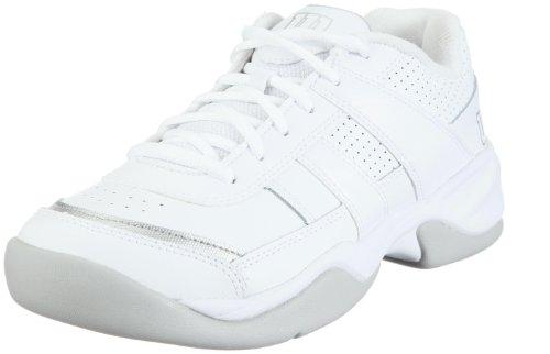 Wilson Pro Staff Court WRS984700060, Damen, Sportschuhe - Tennis, Weiss (White/Silver), EU 39 2/3 (UK 6) (US 8)