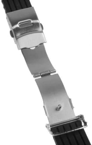 Pichidr-JP 時計バンド 交換ベルトシリコーンゴム 腕時計ストラップ 防水 18mm ブラック