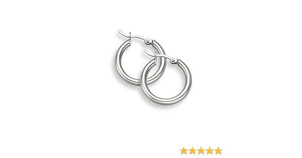 """1//2/""""/"""" 12mm Diameter Gold Plated Sterling Silver 3mm Hoop Earrings"""
