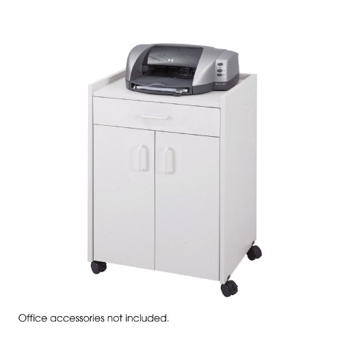 Refreshment Safco Center Mobile - Safco Products 8954GR Mobile Refreshment Center With Drawer, Gray