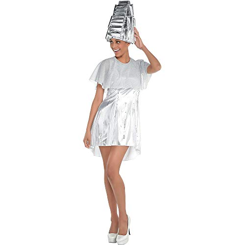 Costumes USA Grease Beauty School Dropout Costume Accessory Kit for Women, Standard Size, Includes Dress, Cape, and Hat