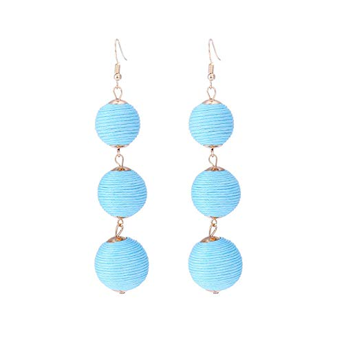 Redvive Top Fashion Simple Earring Retro Round Tassel Earrings Ladies Temperament Jewelry