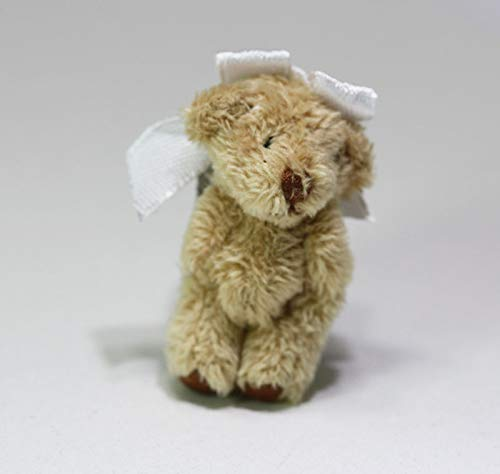 Dollhouse Miniature 1:12 Soft & Fuzzy Teddy Bear with Bow from Dollhouse Miniature