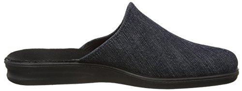 Romika President 144 for men. Comfortable slipper from textile in elegant shades. Dark Denim l9KY366OS