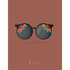 Notebook: Sunglass cover and Dot pages, Extra large (8.5 x 11) inches, 110 pages, notebooks and journals (Sunglass notebook,with Dot pages, Extra large (8.5 x 11) inches, 110 pages) (Volume 7)