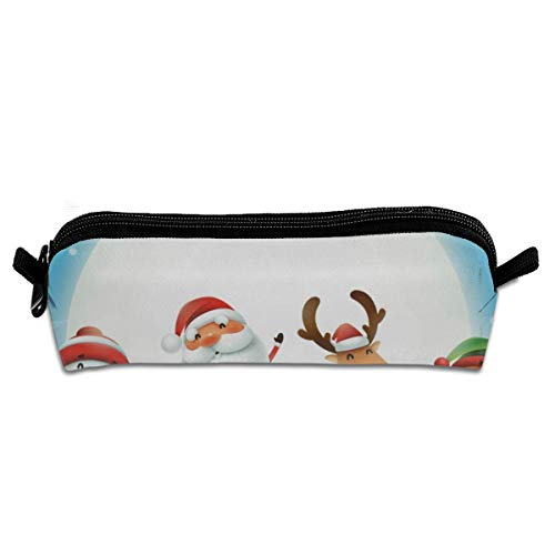 - MISSMORN Pencil Case Bag Santa Claus Reindeer Snowman Moon Pen Organizer Pouch Holder Protective Storage Container Perfect Gift for Students & Artist