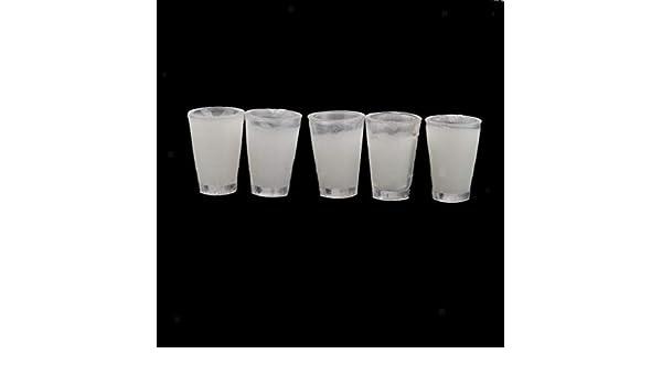 5pcs Glass Filled Milk Mugs Cups for 1:12 Doll House Miniature Pub//Bar Favor