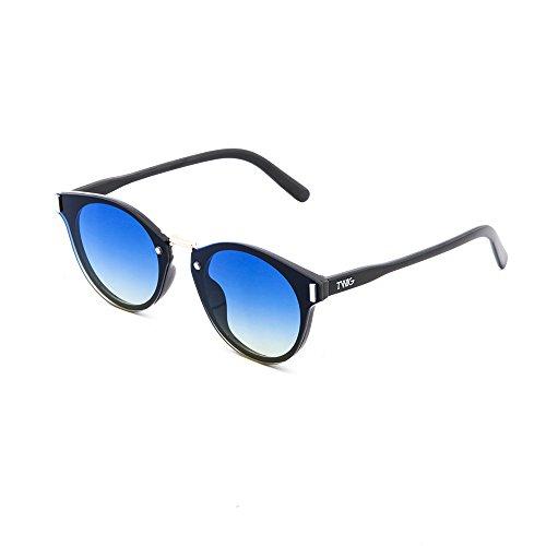 degradadas espejo sol Degradado TWIG mujer de hombre Gafas Azul Negro KANDINSKY pwI5q