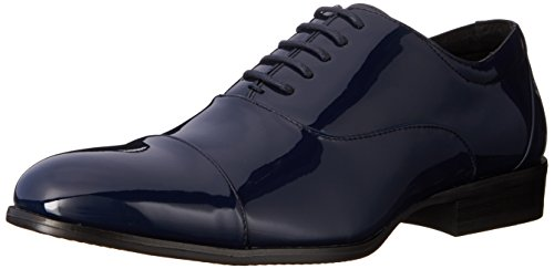 Stacy Adams Mens Gala Cap-toe Smoking Spets-up Oxfordskor Marinen Patent