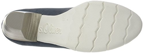 s.Oliver 22405, Zapatos de Tacón para Mujer Azul (DENIM 802)