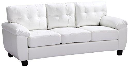 Glory Furniture G907A-S Living Room Sofa, White