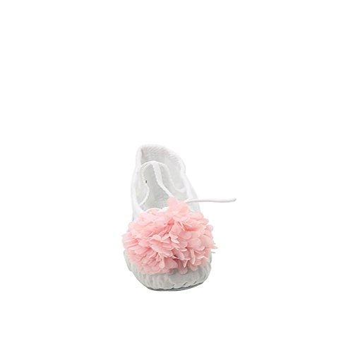 Scarpe Da Danza Classica Di Tela Da Donna Con Fiore Bianco
