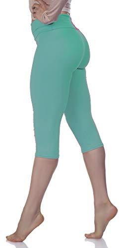 734fb0e86 LMB Lush Moda Extra Soft Capri Leggings - Variety of Colors - Yoga Waist -  Mint