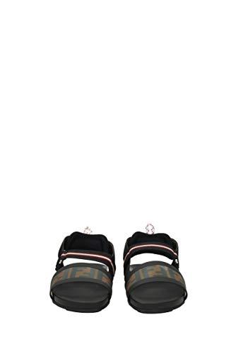 Sandali Donna Tessuto Nere 8x6720a2d7 Uk Fendi ZPqwOnO