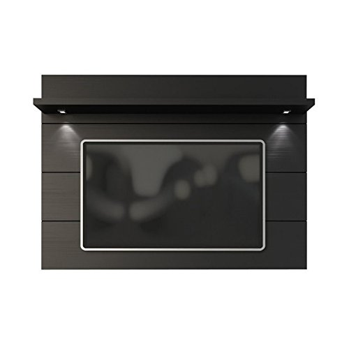 Manhattan Comfort Cabrini 2.2 Panel Collection Floating Wall TV Panel TV Wall Mount with Shelf, 85.62