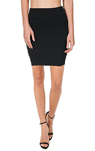 Bodycon Above Knee Mini Pencil Skirt for Women Short Cotton ...