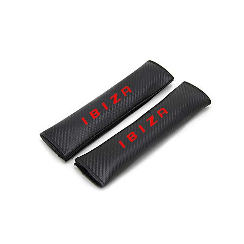 for Seat Ibiza Car Seat Belt Shoulder Strap Protect Pads Cover No Slip No Rubbing Soft Comfort 2Pcs Red