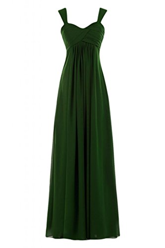 Plus Verde da Pageant sera damigella Gowns Graceful Sunvary Double d'onore scuro Strap 2014 abito Maxi 07pnxOwH