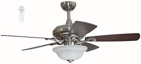 Litex TLEII44BNK5L Brushed Nickel 44-inch Ceiling Fan
