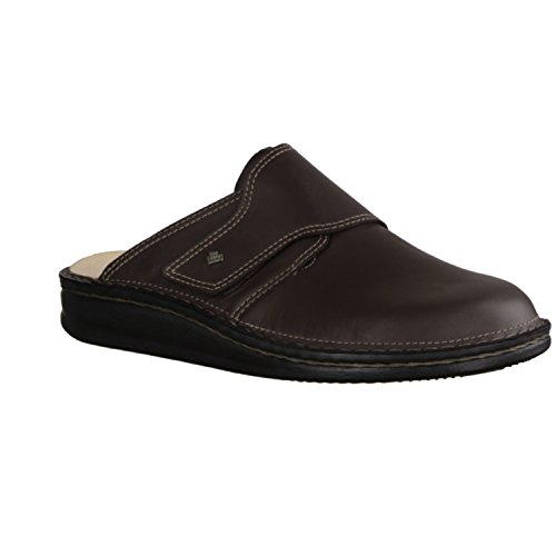Finn Comfort Amalfi- Herrenschuhe Sandale / Pantolette, Braun, cayenne ( leder )