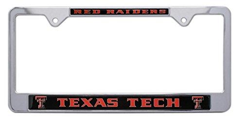 Texas License Plate Frames - All Metal NCAA Mascot License Plate Frame (Texas Tech)