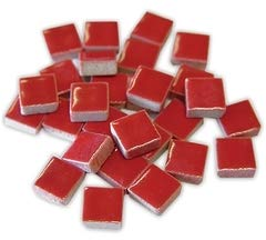 (Jennifer's Mosaics 1-Pound 3/8-Inch Deco Ceramic Mosaic Tile, Red)