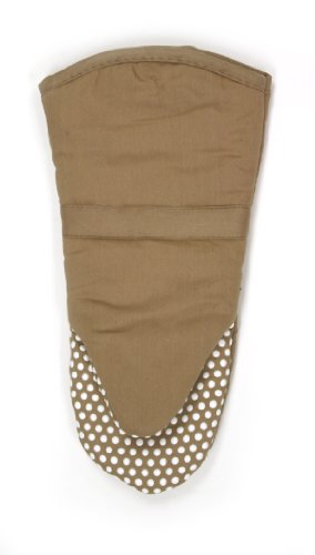 Montana Dish Towel (RITZ Royale Cotton Twill Puppet Oven Mitt with Silicone Dot Non-Slip Grip, 13-inch, Mocha Brown)