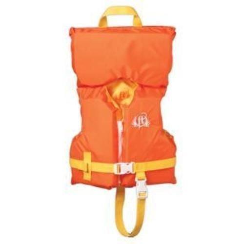 Full Throttle Orange Säugling-/Kind-Zeichen Weste -Adjustable, zusätzliche Stützung für den Kopf