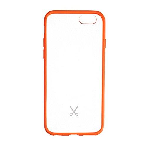 Philo Case di Tipo Bumper per iPhone 6/6S, Arancione Fluo