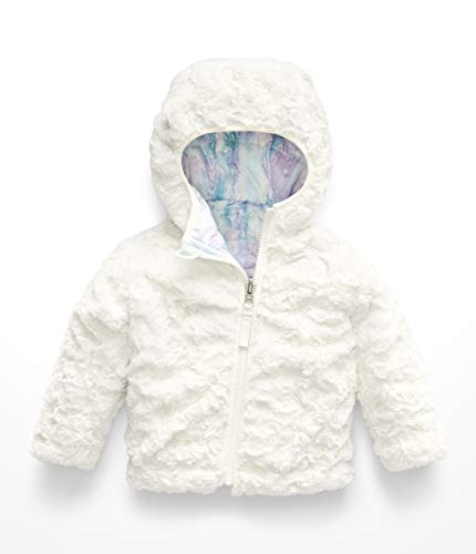 - The North Face Infant Reversible Mossbud Swirl Hoodie - Purdy Pink Snow Dust Print - 18M