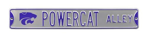 NCAA Powercat Alley W / LOGO Kansas Stateストリートsignstreetサイン、チームカラー、36