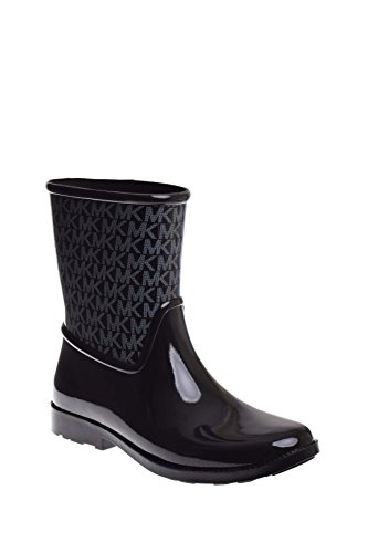 - Michael Michael Kors Womens Sutter Ankle Logo Rain Boots Black 9 Medium B M