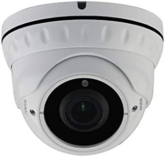 CamVtech 2.4MP 1080P HD 4-in-1 CCTV Camera 2.8 Vari-Focal Lens, Metal Case, Wide Angle Zoom Indoor Outdoor-Day Night White Home Security Surveillance Dome Camera White