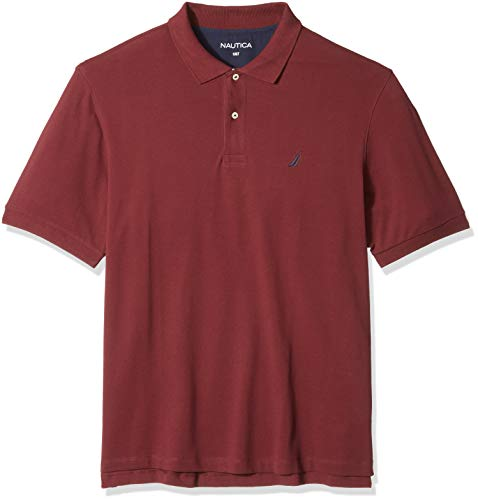 Nautica Men's Big and Tall Short Sleeve Solid Deck Polo