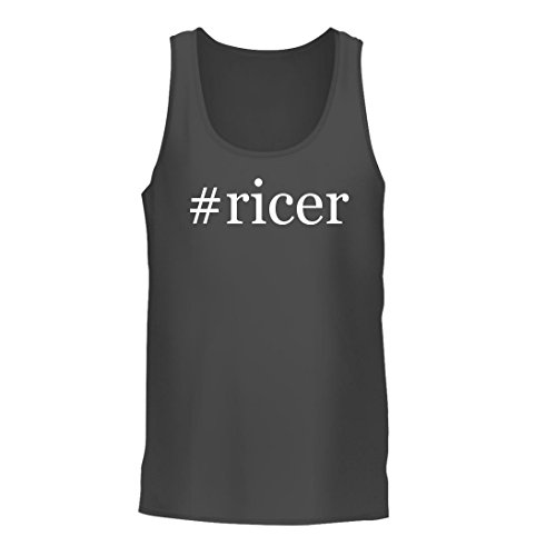 #ricer - A Nice Hashtag Men's Tank Top, Grey, (Cuisipro Stainless Steel Potato Ricer)