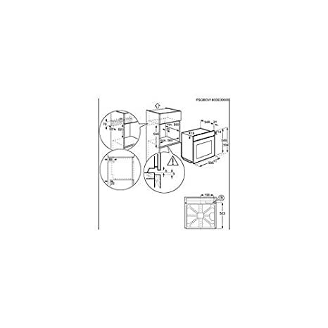 AEG BSE577321M - Horno (Medio, Horno eléctrico, 72 L, 72 L, 30-300 ...