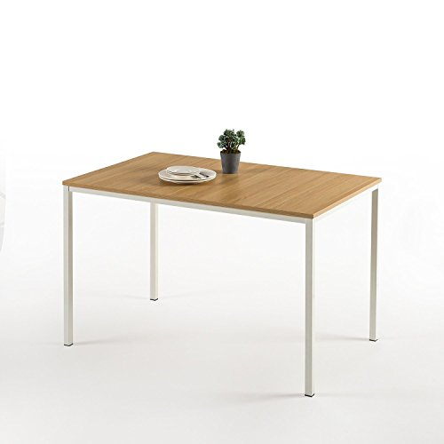 (Zinus Dessa Modern Studio Collection Soho Dining Table / Office Desk / Computer Desk / Table Only, White )