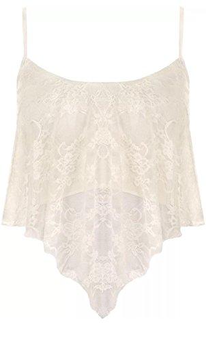 Freedom & Fashion - Camiseta sin mangas - para mujer crema
