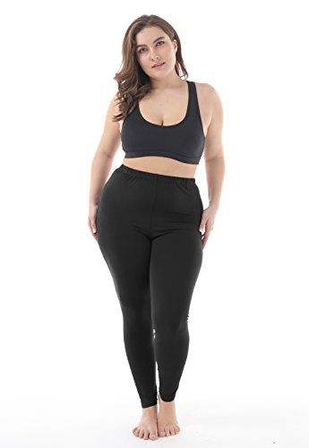 98a721ef2973c Zerdocean Women's Plus Size Summer Lightweight Breathable Full Length  Leggings