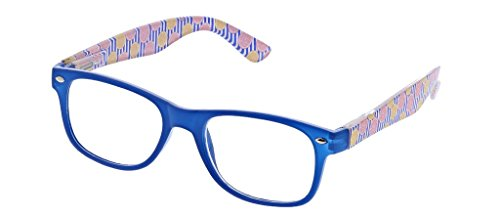 (Peepers Women's Citrus Grove - Blue/Grapefruit 2410300 Square Reading Glasses, Blue&Grapefruit,)