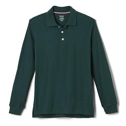 Youth Hunter Sweatshirt - French Toast Big Boys' Long-Sleeve Pique Polo Shirt, Hunter, Large/10-12