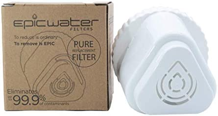 Replacement Filter For Epic Pure Water Pitcher Removes Fluoride Lead Chromium 6 Pfos Pfoa Micro Organisms Pesticides Chemicals Industrial Pollutants Bpa Free Filters 150 Gallons Amazon Sg Home
