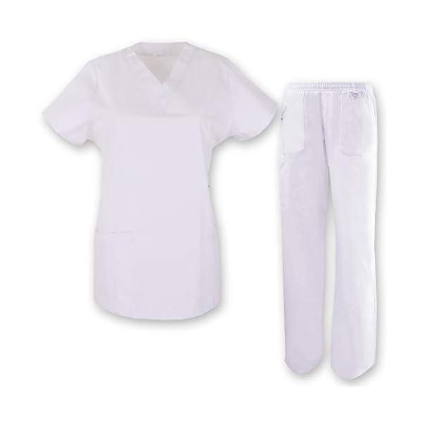 MISEMIYA Medical Uniform Scrub Set Conjunto de Trabajo Unisex Adulto 1