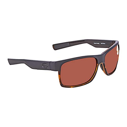 - Costa Del Mar HFM 181 OCP Half Moon Sunglasses Matte Black/Shiny Tortoise/Copper 580Plastic