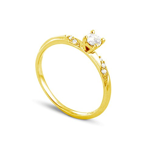 Tousmesbijoux Solitaire Sensuality en Or jaune 375/00 Diamant 0,14 carat
